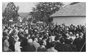 Posviacka základného kameňa evanjelického a.v. kostola v Smižanoch