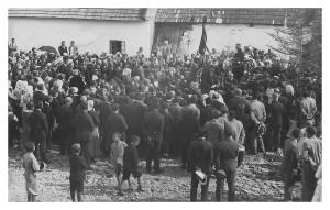 Posviacka základného kameňa na výstavbu evanjelického a.v. kostola v Smižanoch 1932